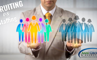Difference between a staffing company and a recruiting company